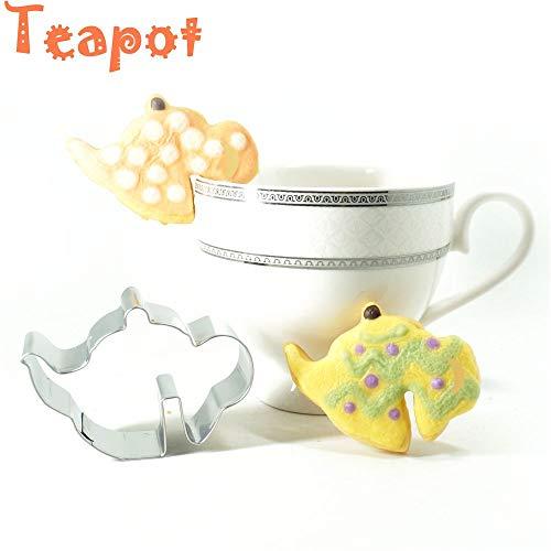 Lustige Tee-Zeit Backwerkzeuge Schokolade Becher Dekor Keksform Keksausstecher Cup Hanging, edelstahl, Teekanne