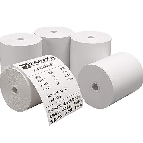 Limeo Papel Térmico para Caja Tarjeta Rollos De Recibos Térmicos Blancos Rollos De Papel Térmico Rollos de Caja Registradora Papel Térmico Rollos de Papel para Impresoras de Recibos, Terminales EC