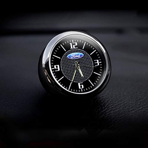 J.MOSUYA Auto Armaturenbrett Trim Clock Interior Zubehör Hohe Genauigkeit Quarz Leuchtzifferblatt mit Vent Clip