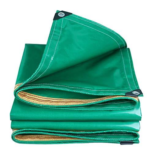 Lona impermeable para coche, barco, techo, cubierta para la lluvia, para acampar, remolque, tienda de campaña, hoja de lona verde, grosor de 0,35 mm, lona resistente (tamaño: 6MX12M)