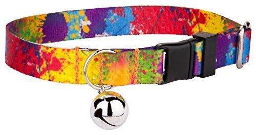 Country Brook Petz - Paint Splatter Cat Collar - Vibrant 125 Design Selection