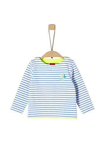 s.Oliver Junior Baby-Mädchen 405.10.004.12.130.2037937 T-Shirt, 53G6 Blue Stripes, 80