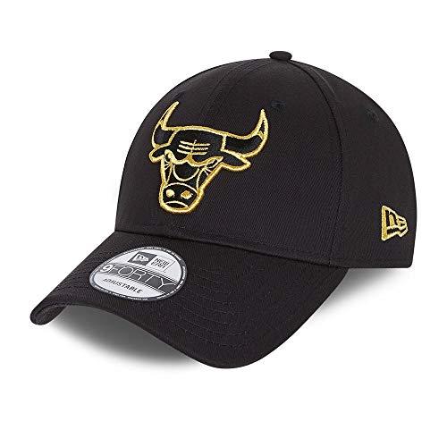 New Era NE Metallic Logo 9Forty Cap ~ Chicago Bulls schwarz