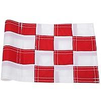 裏庭の屋外練習のための緑の旗、ナイロン高速ドライホールポールカップ旗を練習する(Red white)