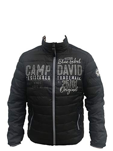 Camp David Herren Leichte Steppjacke mit Logo-Applikation