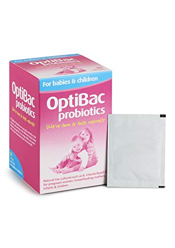 OptiBac for Babies & Children | Daily 3 Billion Friendly Bacteria Flavourless Natural Supplement | Lactobacillus Acidophilus & Bifidobacterium Infantis | Three Month Supply | 90 Sachets