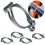 POFET 4 juegos de anillos de metal firmemente para enmarcar cables de bicicleta MTB Guía de cable de freno de cambio de cable de cambio de desviador, base de guía, clip de ajuste, 28,6 mm