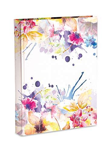 Mareli Album Fotografico con Taschette, Carta Stampata con Rifinitura Plastificata Opaca, Disegno Floreale, 200 Foto 13x18