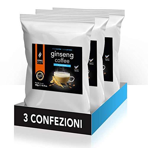 Caffè al Ginseng da Zuccherare Solubile 400gr x 3 confezione - 1.2kg Caffè al Ginseng