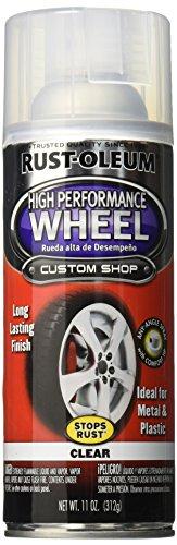 Rust-Oleum 248929 Automotive High Performance Wheel Spray Paint, 11 oz, Clear