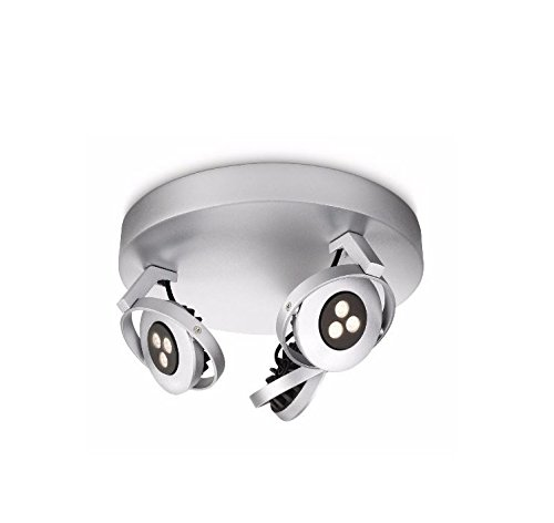 Philips 564233116 Ledino LED-Deckenleuchte, 3 x 7,5 W Modern metallic