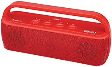 JENSEN SMPS-627-R Bluetooth Portable Wireless Stereo Speaker, Red
