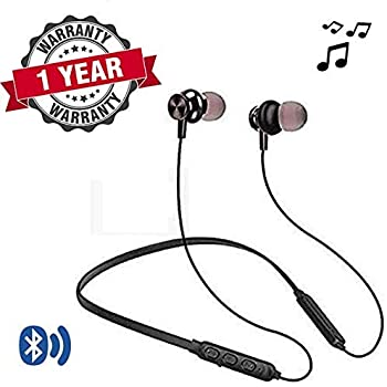 LIMESHOT® HP17 Wireless Bluetooth Earphone with Mic | Sports Headphone Headset Neckband Handsfree Compatible with All Mobile Phones, Tablets and Laptops