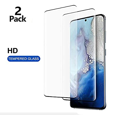"""[2-Pack] Galaxy S20 Screen Protector,Tempered Glass [Fingerprint Compatible] [3D Full Edge Covered] [9H Hardness] [HD Screen] Case Friendly Glass Protector, for Samsung Galaxy S20 (6.2"""")"""
