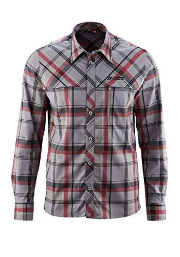 Maier Sports Homme Merton L/S Chemise Fonctionnelle 4XL Grey/Red Check
