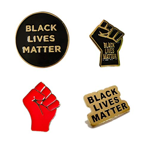 OBMMIRAO BLACK LIVES MATTER Pin Set Buttons, BLM Pin Raised Fist Enamel Pride Lapel Pins for Backpacks,shirts,Jackets,Hoodie Bags,Hats & Tops, Anti-Racism Movement Equality Social