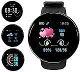 Smartwatch,Reloj Inteligente Impermeable IP65, Pulsera de Actividad Inteligente con Monitor de Sueño Contador de Caloría Pulsómetros Podómetro, para Hombres Mujeres Niños Compatible iPhone/Android