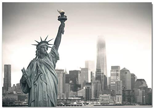 Panorama Lienzo Estatua de la Libertad New York 30 x 21 cm Cuadro Impreso en Lienzo Bastidor Cuadros Decoración Salón y Dormitorio Láminas Decorativas Cuadros Modernos