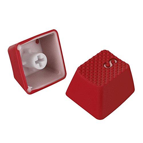 Sharkoon Mechanical Rubber Keyset rot Gummierte Tastenkappen für mechanische Tastaturen mit Kailh- und Cherry MX-Schaltern