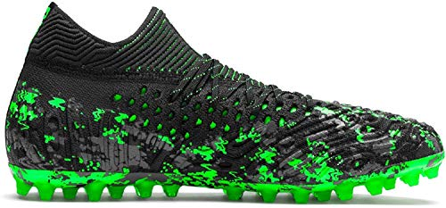 Puma Future 19.1 Netfit MG, Scarpe da Calcio Uomo, Nero Black-Charcoal Gray-Green Gecko 3, 40.5 EU