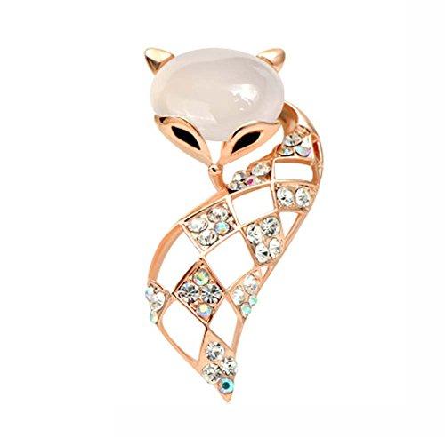 Broche Corsage Pin/Badge Shirt Femme Accessoires Femme (Fox)