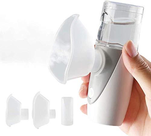 AFAC Tragbares Vernebler Set Inhalator Vernebler für Kinder und Erwachsene Atemwegserkrankungen Atomisierte Partikel und Ultraschall-Technologie ist für Atemwegserkrankungen wirksam, Mehrweg