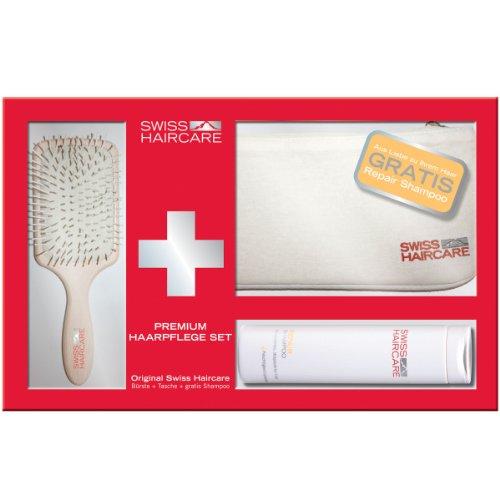 Swiss Haircare Paddle + Repair Shampoo + Tasche