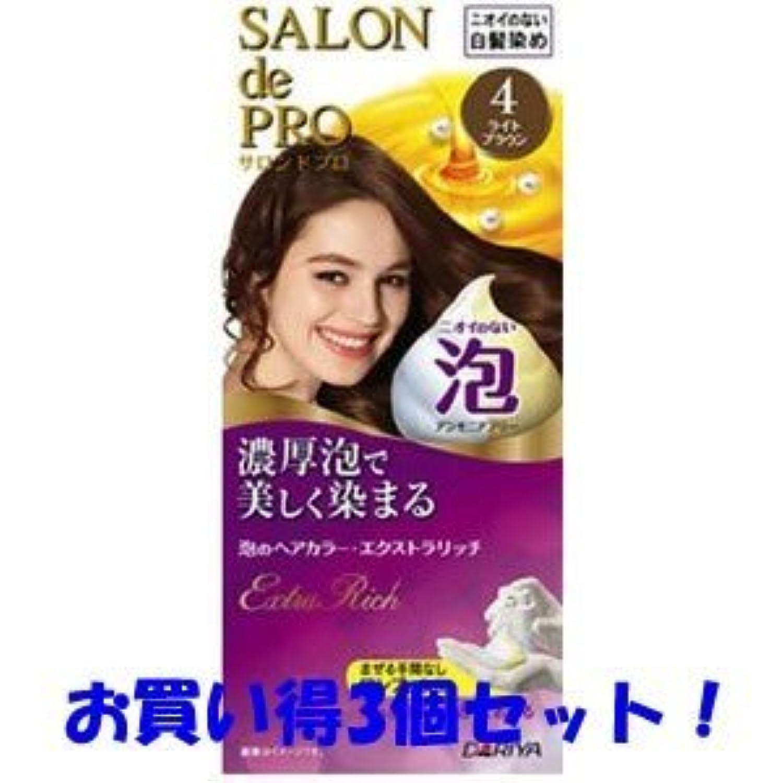 【ダリヤ】サロンドプロ 泡のヘアカラー?エクストラリッチ 4 ライトブラウン(医薬部外品)(お買い得3個セット)