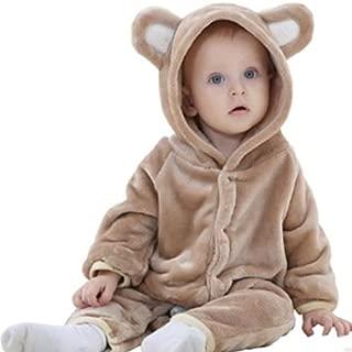 赤ちゃん着ぐるみ カバーオール 熊 熊着ぐるみ ロンパース ベビー服 出産祝い 男の子 女の子