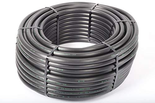PE-LD Verlegerohr PN6 25mm, Rolle 25lfm Wasserleitung Bewässerung Versorgungsleitung Brauchwasser Druckrohr schwarz