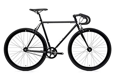 State Bicycle Core Line - Wulf | Durable Steel Frame ft. Seat Stay Rack Mounts - Fixed Gear/Single Speed Bike | 58cm Drop Bar