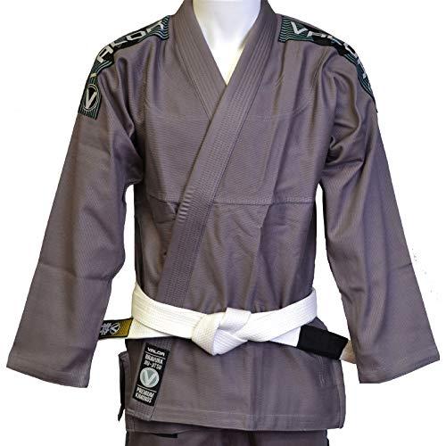 Valor Bravura BJJ GI Kimono color gris con cinturón blanco de regalo, A3