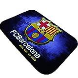 SanQing Estera Barcelona Chelsea Manchester United Club Logo alfombras de Franela impresión Digital Alfombrilla Antideslizante Impermeable,02,15.7 * 23.6in