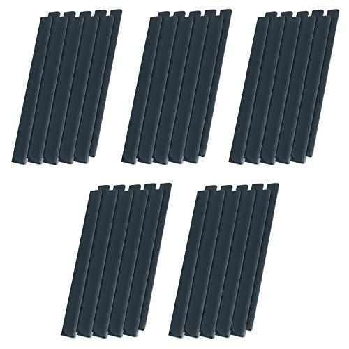 UISEBRT 50 Stück PVC Befestigungsclips Sichtschutz Klemmschienen für Sichtschutzstreifen, Anthrazit
