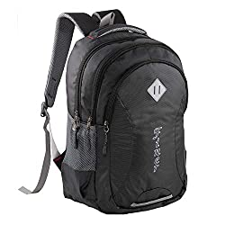 Finer Casual Backpack|Soft College School Bags for Girls Boys Women|Travel Shoulder Bagpacks Waterproof|Travel Bags|Mens Fits Laptop & Notebook| 27L with raincover |Black,Finer Enterprises,1013BLACK