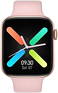ساعة ذكية شاشة تتش بالكامل متوافقة مع اندرويد و ايفون مقاس 44 - روز جولدبينك