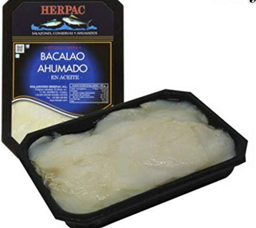 BACALAO AHUMADO EN ACEITE 550 g. BARBATE ¿Una sugerencia? Servir encima de pan tostado y acompañar con un poco de salmorejo.