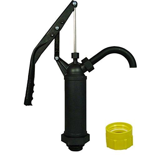 ABACUS Fasspumpe Vario Profi mit variablem Hub + Adapter gelb für Gewinde Nr. 61- geeignet für Alkohole, Benzin, Diesel, Laugen und Säuren - Handpumpe Hebelfasspumpe Ölpumpe Kerosinpumpe (7220)