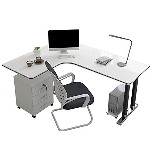 DAPAO Escritorio, Mesa De Esquina En Forma De L, Escritorio, Mesa De Estudio, Mesa De Juegos, Adecuado para Oficina, Estudio, Juego, 120x80 / 100x75cm