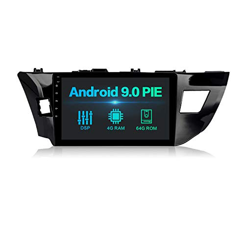 """Dasaita 10"""" Android 9.0 Bluetooth Car Stereo Head Unit with 4G RAM/ 64G ROM for Toyota Corolla 2014 2015 2016 Car Radio Touch Screen GPS Navigation Dash Kit Built in DSP 15Band EQ"""