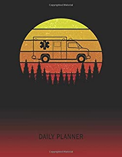 Daily Planner: EMT Paramedic Ambulance | 2020 - 2021 Daily Planner For 1 Year Of Planning | Retro Vintage Sunset Cover | January 20 - December 20 | ... | Plan Days, Set Goals & Get Stuff Done