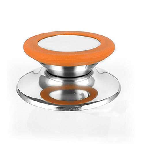 XIARUI Cookware Parts Couvercle Poignée Batterie de Cuisine Remplacement Ustensile Pot Couvercle poêle Couvercle Circulaire Tenant enfoncé Le Bouton à vis Poignée Kitchen Accessories (Color : Orange)
