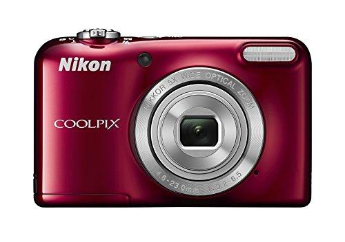 Nikon Coolpix L31 Digitalkamera (16 Megapixel, 5-fach opt. Zoom, 6,7 cm (2,6 Zoll) Display, HD-Video) rot