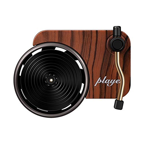 Buyfunny01 Difusor Fragancia Interior Mini Tocadiscos Forma Ventilación Aire Universal No tóxico Auto Car Perfume Decoración Vintage Ambientador Clip Aromaterapia