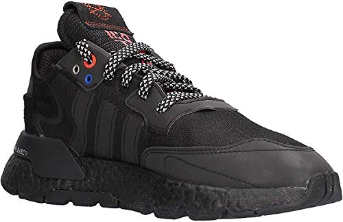 adidas Nite Jogger, Zapatillas de Gimnasio para Hombre, Núcleo Negro/Núcleo Negro/Plata Met, 43 1/3 EU