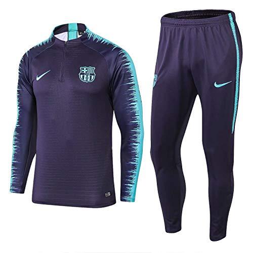 SQUZEA Langarm-Trikot Fußball-Sportkleidung Erwachsene Männer Leotards Teamswear Anzug Jugend Jogging Top & Hose Kleidung Unisex voll (Color : Blue, Size : S)