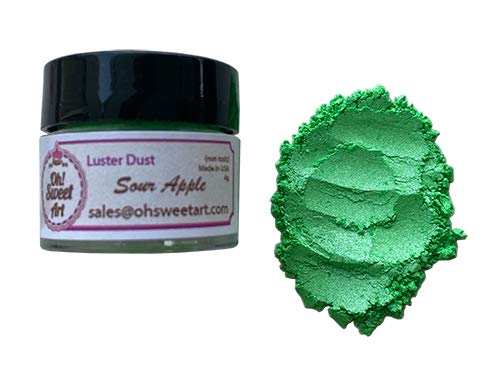 SOUR APPLE 1 year warranty GREEN LUSTER DUST 4 Sweet Ar container grams wholesale Oh By
