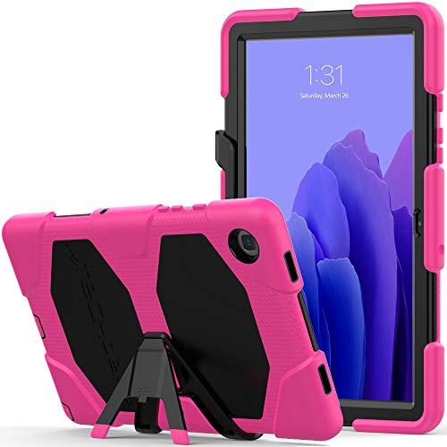 TECHGEAR Custodia Robusta Compatibile con Nuovo Samsung Galaxy Tab A7 10.4  2020 (SM-T500 SM-T505) Resistente agli Urti e all impatto - Cover con Supporto per i Bambini, Lavoro e Scuola [Rosa]