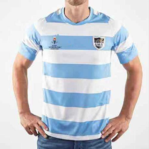 Equipo Argentina, Rugby Jersey, Copa del Mundo, Home Edition, Nueva Tela Bordado, Ropa Deportiva Swag