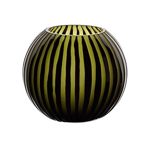 Blumenvase Kugelvase Glas Vase Texas Flower Schwarz Grün 17 cm Tischvase Tischdeko Hochzeitdeko